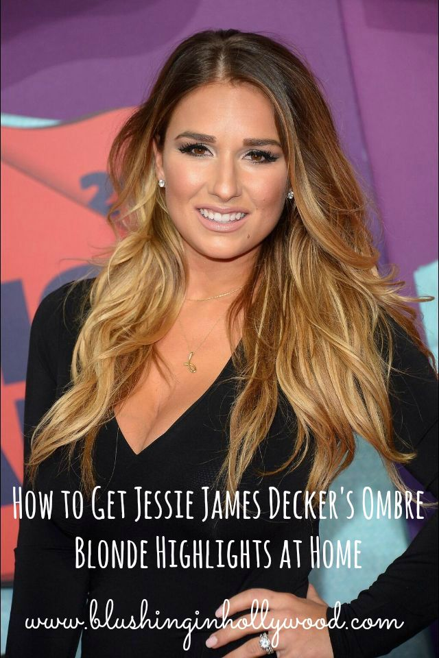 Jessie james decker ombre blonde highlights at home blushing in jessie james decker ombre blonde highlights at home blushing in hollywood pmusecretfo Image collections
