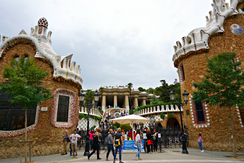 Park Guell In Barcelona Spain Blushing In Hollywood