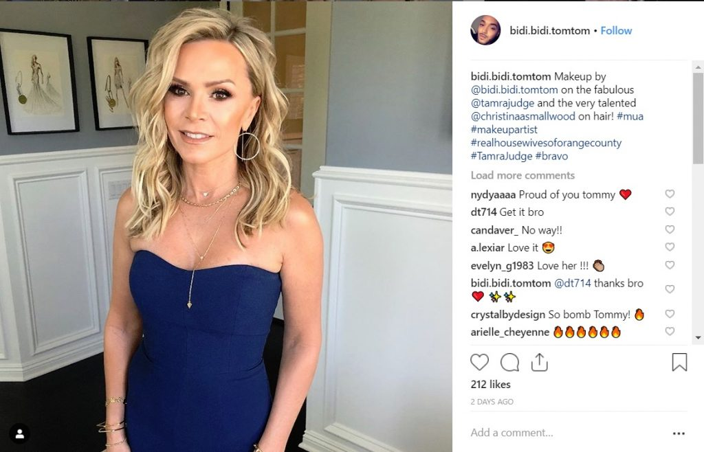 Tamra Judge's makeup and hair for Andy Cohen's byb shower by @bidi.bidi.tomtom and @christinaasmallwood