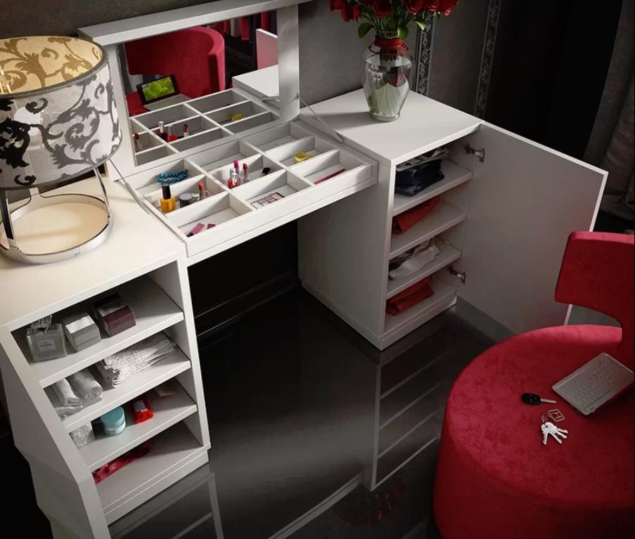 interesting hollywood bedroom furniture set | Kirkwood Bedroom Makeup Vanity Set Wayfair - Blushing in ...