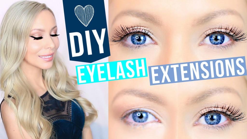 Diy Lash Extensions Blushing In Hollywood