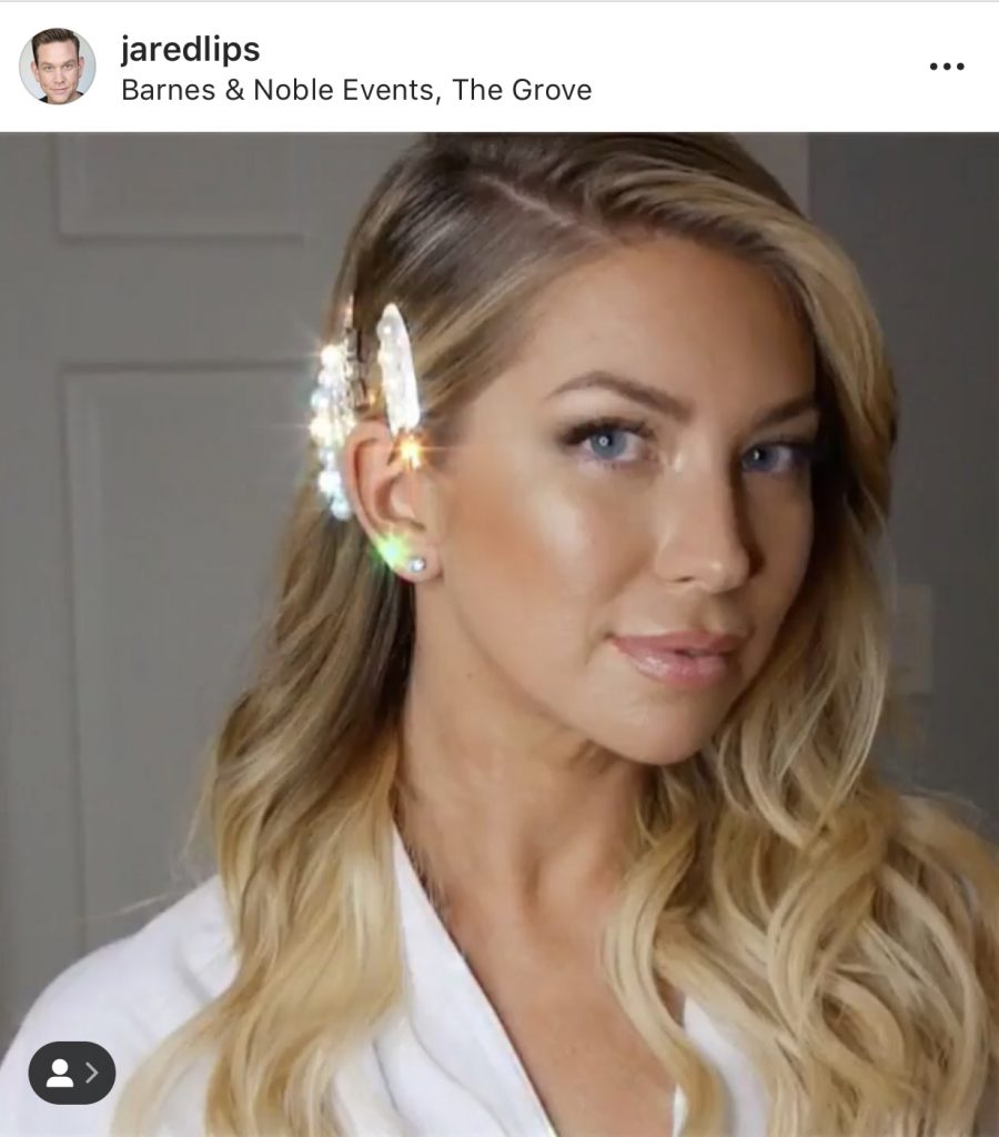 Stassi Schroeder's Hair and Makeup for her book tour appearance. Her makeup is by Jared Lipscombe and her hair is by Bradley Leake. Photo @jaredlips on Instagram
