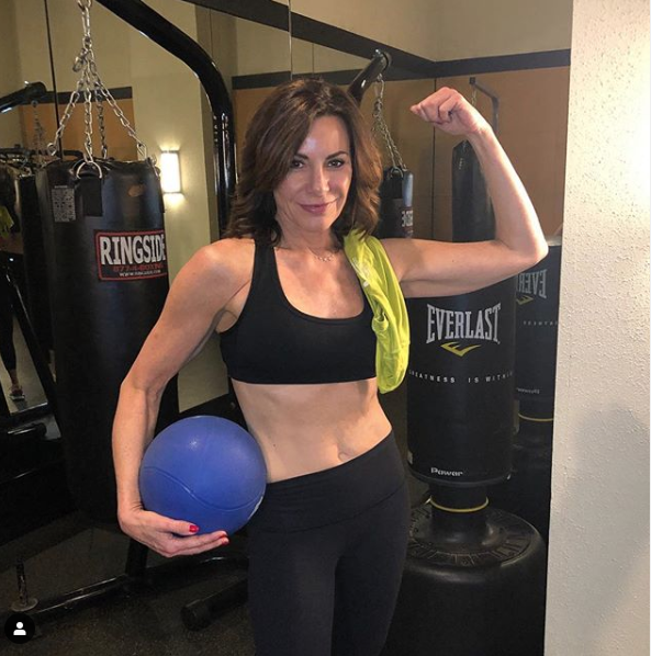 Countess Luann De Lesseps showing off her fit body on Instagram @countessluann